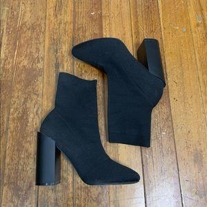 Black heel sock boots ASOS